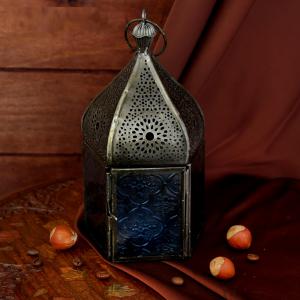 подсвечник-фонарь Восточная сказка, 11х11х18 см