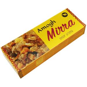 безосновные благовония дхубы Мирра (Mirra Amogh dhoop), 20 гр