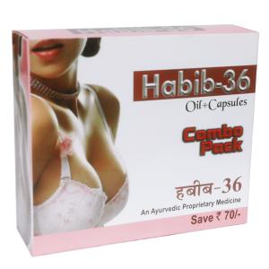 средство для увеличения и лифтинга груди Хабиб-36 масло и капсулы (Habib-36 combo pack), 50 мл + 30 капсул