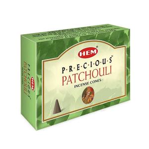 благовоние в форме конусов Драгоценный Пачули (Precious Patchouli HEM), 10 штук