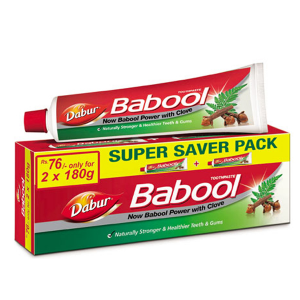 зубная паста Бабул Дабур (Babool Dabur) с аравийской акацией, 180+180 грамм