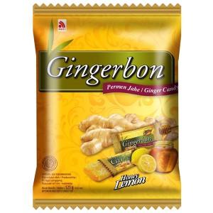 имбирные конфеты Джинджербон Мёд-Лимон (Gingerbon Honey-Lemon candy) 125 грамм