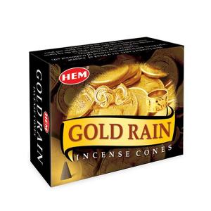 благовоние в форме конусов Hem Золотой Дождь