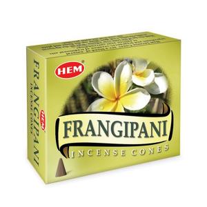 благовоние в форме конусов Hem Франжипани (Frangipani HEM), 10 штук