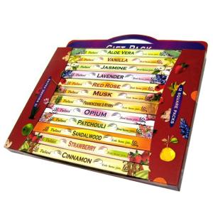 набор ароматических палочек Tulasi Большая Ароматерапия (AROMATHERAPY Gift Pack), 12 шт. в наборе