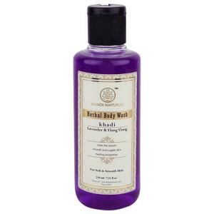 гель для душа Лаванда и Иланг-Иланг Кхади (Lavender & Ylang Ylang herbal body wash Khadi), 210 мл