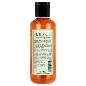гель для душа Апельсин и Лемонграсс Кхади (Orange & Lemongrass herbal body wash Khadi), 210 мл