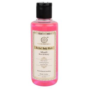 гель для душа Роза и Мёд Кхади (Rose & Honey herbal body wash Khadi), 210 мл
