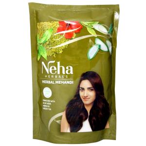 хна для укрепления волос Неха с Алоэ Вера, Гибискусом и Зелёным Чаем (Neha Henna), 140 гр.