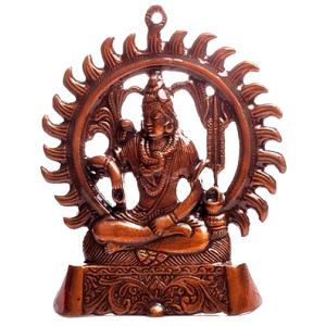 статуэтка Шива на троне, силумин 20 см