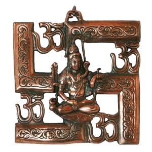 металлическое панно Шива И Ом