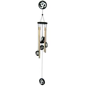 музыка ветра 5 трубочек Ом металл Золото, высота 70 см.