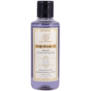 массажное масло с Лавандой и Иланг Иланг (Lavender & Ylang Ylang Herbal Massage Oil Khadi), 210 мл
