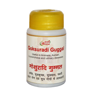 Гокшуради Гуггул Шри Ганга (Gokshuradi Guggulu Shri Ganga), 50 грамм