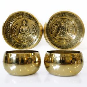 поющая чаша литая для медитации, сплав 5 металлов