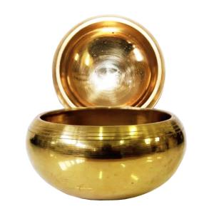 поющая чаша литая для настройки чакр сплав 7 металлов, 11 см