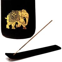 подставка для благовоний золотой Слон