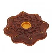 подставка для ароматических конусов Цветы, диаметр 90 мм
