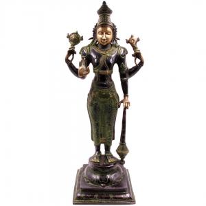 статуэтка из бронзы Бог Маха Вишну, 51 см