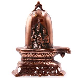 статуэтка лингам Шива паривар, силумин 28 см