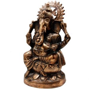 статуя Шри Ганеша с нимбом, 60 см