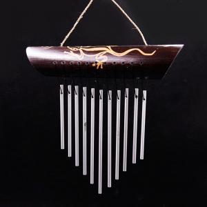 музыка ветра Ящерица 11 трубочек металл, высота 24 см