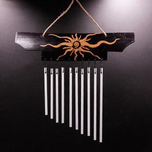 музыка ветра Солнце 11 трубочек металл, высота 24 см